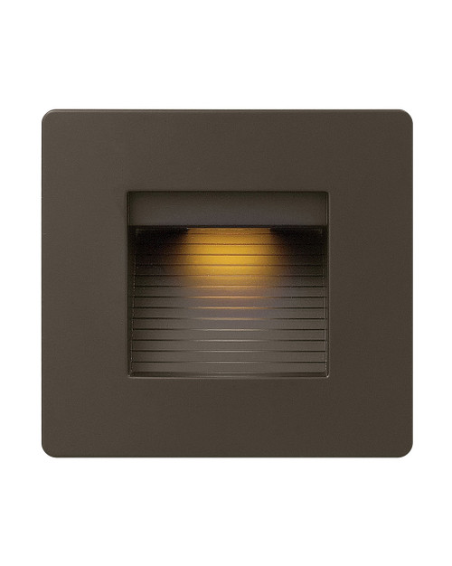 Hinkley Landscape Luna Collection Luna Step Light 120v Horizontal Double Gang 2700K in Bronze, 58506BZ