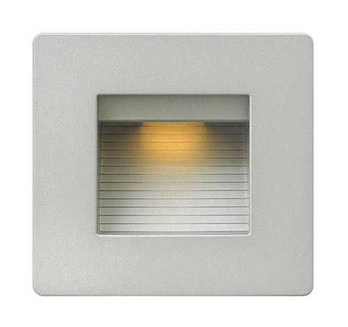 Hinkley Landscape Luna Collection Luna Step Light 120v Horizontal Double Gang 2700K in Titanium, 58506TT