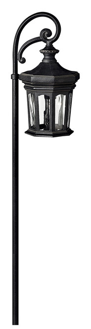 Hinkley Landscape Raley Collection Raley Path Light in Museum Black, 1513MB