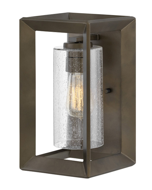 Hinkley Outdoor Rhodes Collection Small Wall Mount Sconce in Warm Bronze, 29300WB