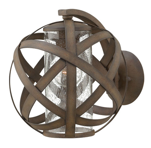 Hinkley Outdoor Carson Collection Small Wall Mount Sconce in Vintage Iron, 29700VI