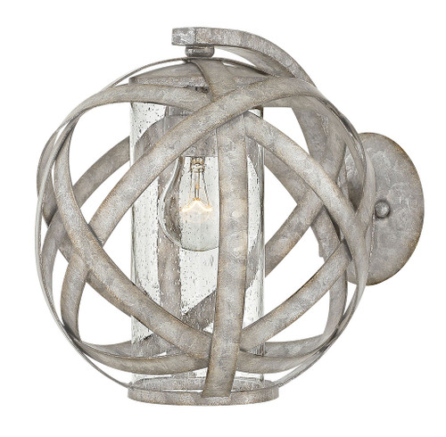 Hinkley Outdoor Carson Collection Small Wall Mount Sconce in Weathered Zinc, 29700WZ
