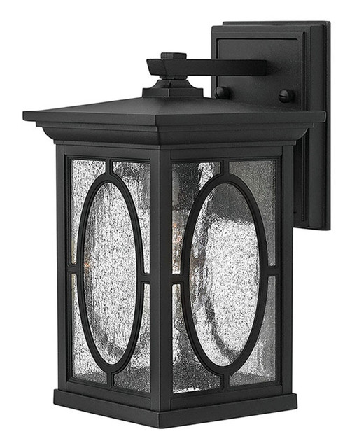 Hinkley Outdoor Randolph Collection Small Wall Mount Lantern in Black, 1490BK