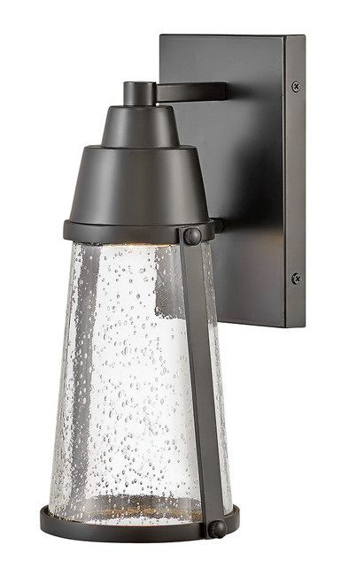 Hinkley Outdoor Miles Collection Small Wall Mount Lantern in Black, 2550BK