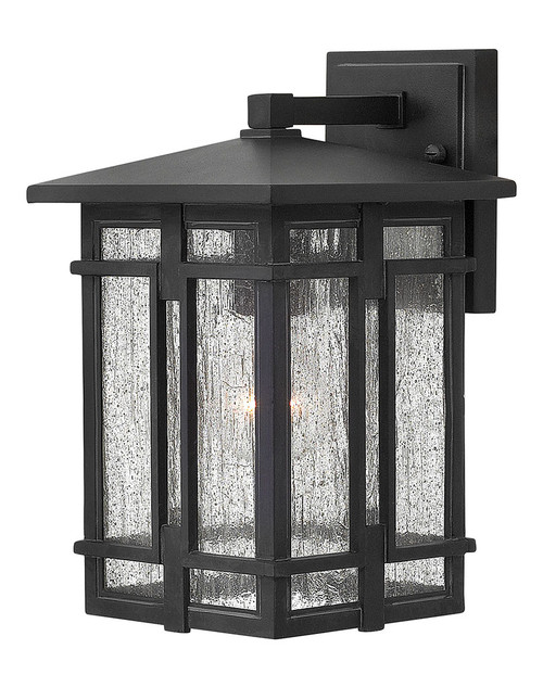 Hinkley Outdoor Tucker Collection Small Wall Mount Lantern in Museum Black, 1960MB