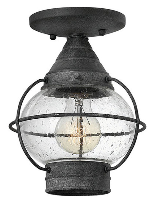 Hinkley Outdoor Cape Cod Collection Small Flush Mount in Aged Zinc, 2203DZ