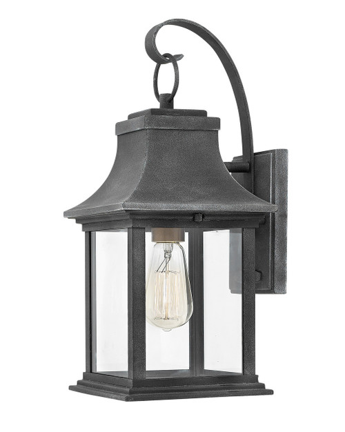 Hinkley Outdoor Adair Collection Small Wall Mount Lantern in Aged Zinc, 2930DZ