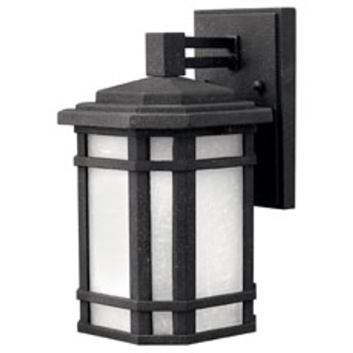 Hinkley Outdoor Cherry Creek Collection Small Wall Mount Lantern in Vintage Black, 1270VK-LED
