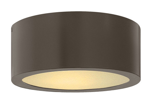Hinkley Outdoor Luna Collection Small Flush Mount in Bronze, 1665BZ
