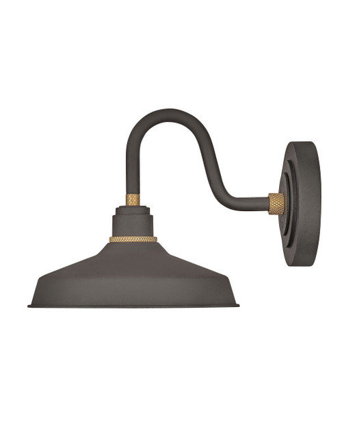 Hinkley Outdoor Foundry Classic Collection Small Gooseneck Barn Light in Museum Bronze, 10231MR