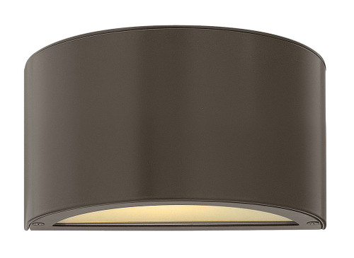 Hinkley Outdoor Luna Collection Small Down Light Wall Mount Lantern in Bronze, 1661BZ