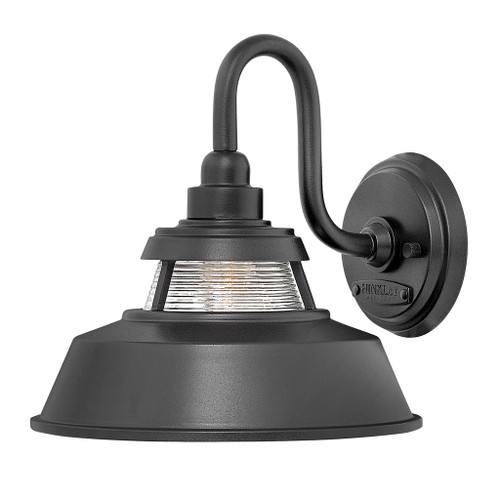 Hinkley Outdoor Troyer Collection Medium Wall Mount Sconce in Black, 1194BK