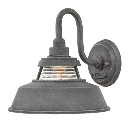 Hinkley Outdoor Troyer Collection Medium Wall Mount Sconce in Aged Zinc, 1194DZ