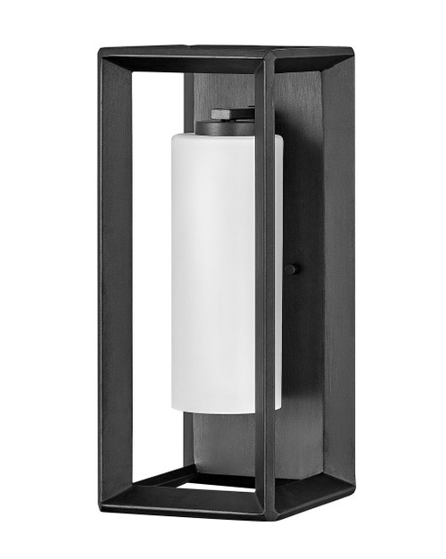 Hinkley Outdoor Rhodes Collection Medium Wall Mount Sconce in Brushed Graphite, 29302BGR