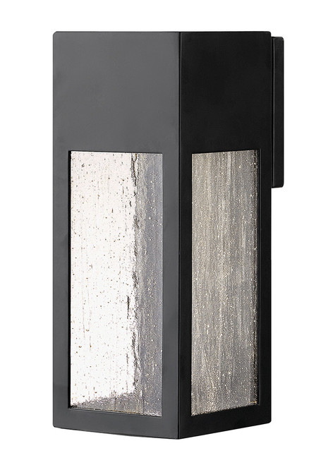 Hinkley Outdoor Rook Collection Medium Wall Mount Lantern in Satin Black, 1784SK-LL