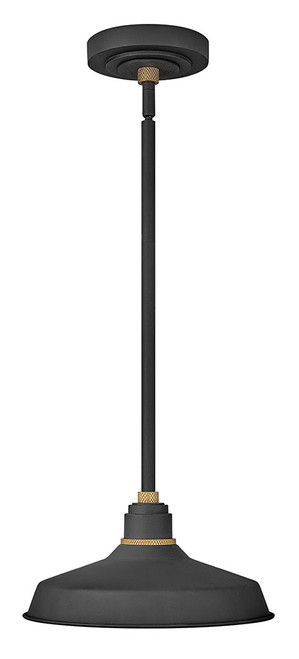 Hinkley Outdoor Foundry Classic Collection Pendant Barn Light in Textured Black, 10382TK