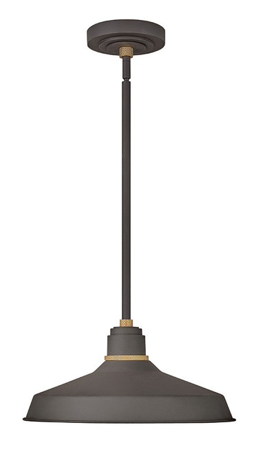 Hinkley Outdoor Foundry Classic Collection Pendant Barn Light in Museum Bronze, 10483MR