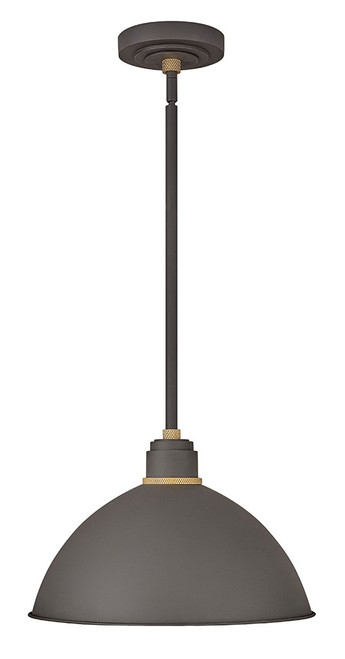 Hinkley Outdoor Foundry Dome Collection Pendant Barn Light in Museum Bronze, 10685MR