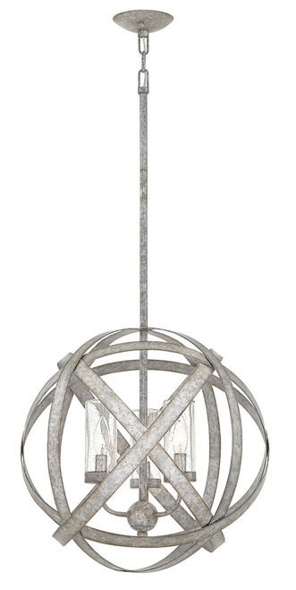 Hinkley Outdoor Carson Collection Medium Orb in Weathered Zinc, 29703WZ