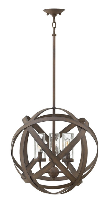 Hinkley Outdoor Carson Collection Medium Orb in Vintage Iron, 29703VI-LL