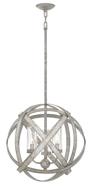 Hinkley Outdoor Carson Collection Medium Orb in Weathered Zinc, 29703WZ-LL