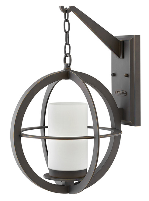 Hinkley Outdoor Compass Collection Large Wall Mount Lantern in Oil Rubbed Bronze, 1015OZ