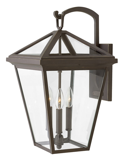 Hinkley Outdoor Alford Place Collection Large Wall Mount Lantern in Oil Rubbed Bronze, 2565OZ-LL