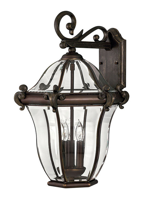Hinkley Outdoor San Clemente Collection Large Wall Mount Lantern in Copper Bronze, 2445CB