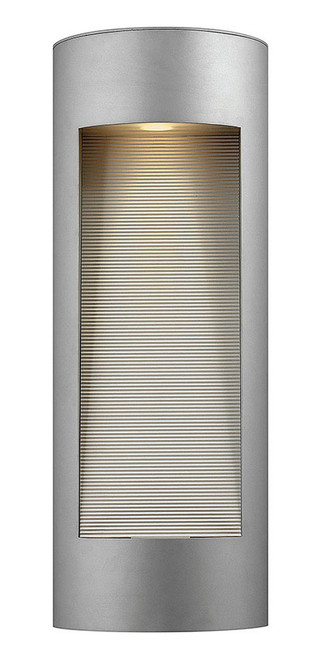 Hinkley Outdoor Luna Collection Large Wall Mount Lantern in Titanium, 1664TT-LED