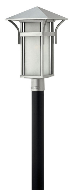 Hinkley Outdoor Harbor Collection Large Post Top or Pier Mount Lantern in Titanium, 2571TT-LED