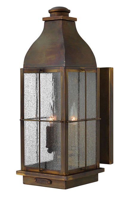 Hinkley Outdoor Bingham Collection Large Wall Mount Lantern in Sienna, 2045SN