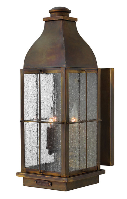 Hinkley Outdoor Bingham Collection Large Wall Mount Lantern in Sienna, 2045SN-LL