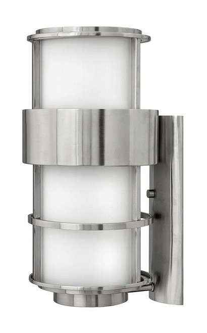 Hinkley Outdoor Saturn Collection Large Wall Mount Lantern in Stainless Steel, 1905SS-LED