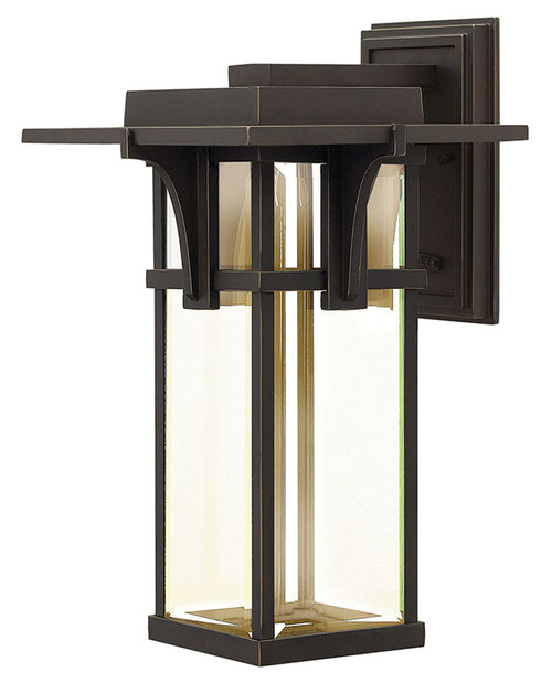Hinkley Outdoor Manhattan Collection Large Pier Mount Lantern in Oil Rubbed Bronze, 2325OZ-LED