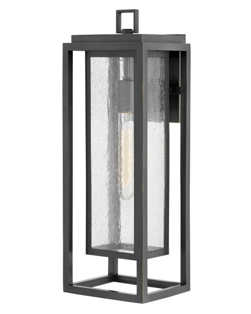 Hinkley Outdoor Republic Collection Large Outdoor Wall Mount Lantern in Oil Rubbed Bronze, 1005OZ