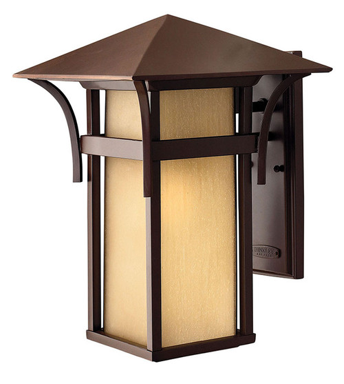 Hinkley Outdoor Harbor Collection Large Outdoor Wall Mount Lantern in Anchor Bronze, 2575AR-LED