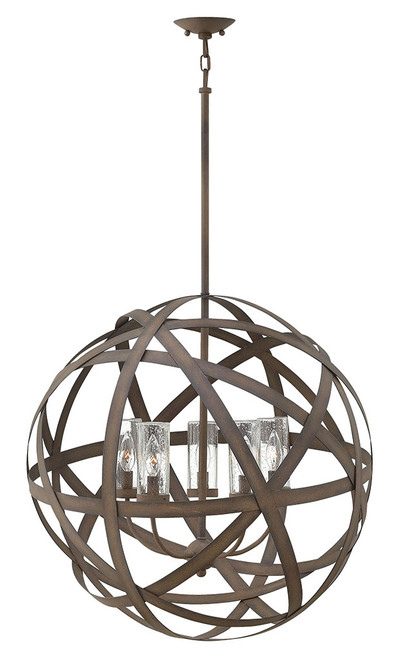 Hinkley Outdoor Carson Collection Large Orb in Vintage Iron, 29705VI