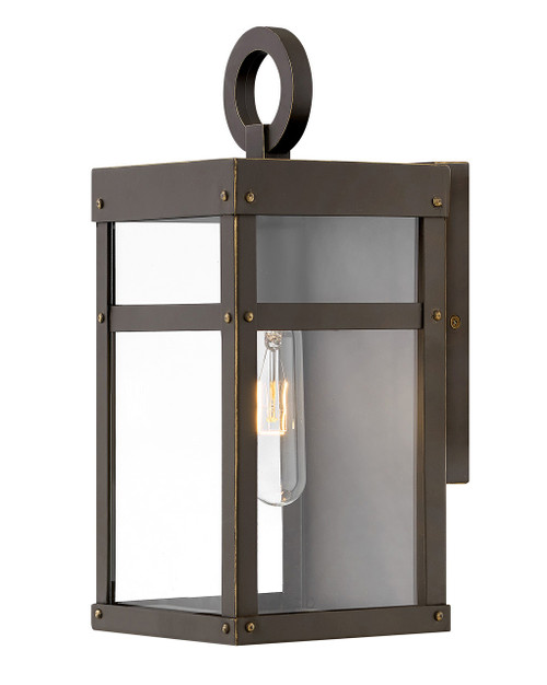 Hinkley Outdoor Porter Collection Extra Small Wall Mount Lantern in Oil Rubbed Bronze, 2806OZ