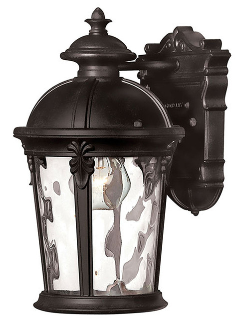 Hinkley Outdoor Windsor Collection Extra Small Wall Mount Lantern in Black, 1890BK