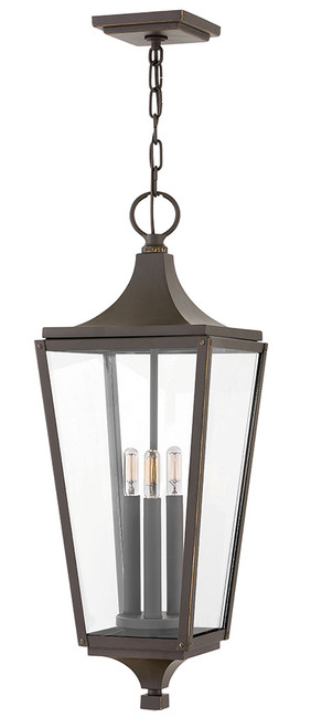 Hinkley Outdoor Jaymes Collection Large Hanging Lantern in Oil Rubbed Bronze, 1292OZ