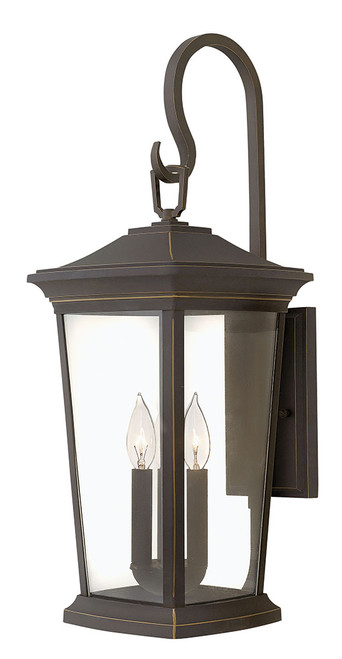 Hinkley Outdoor Bromley Collection Extra Large Wall Mount Lantern in Oil Rubbed Bronze, 2366OZ