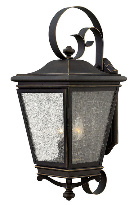 Hinkley Outdoor Lincoln Collection Extra Large Wall Mount Lantern in Oil Rubbed Bronze, 2468OZ