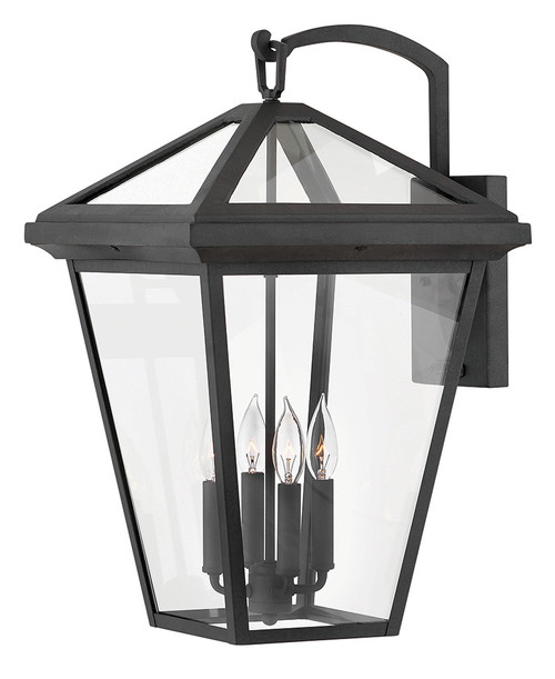 Hinkley Outdoor Alford Place Collection Extra Large Wall Mount Lantern in Museum Black, 2568MB