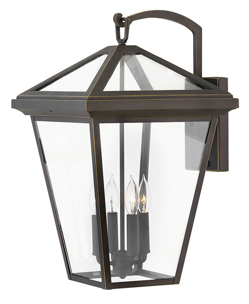 Hinkley Outdoor Alford Place Collection Extra Large Wall Mount Lantern in Oil Rubbed Bronze, 2568OZ