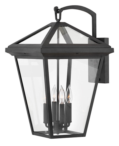 Hinkley Outdoor Alford Place Collection Extra Large Wall Mount Lantern in Museum Black, 2568MB-LL