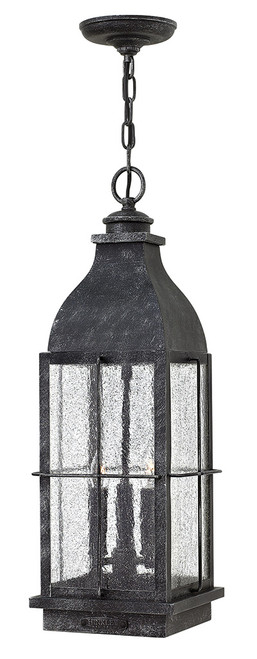 Hinkley Outdoor Bingham Collection Large Hanging Lantern in Greystone, 2042GS-LL