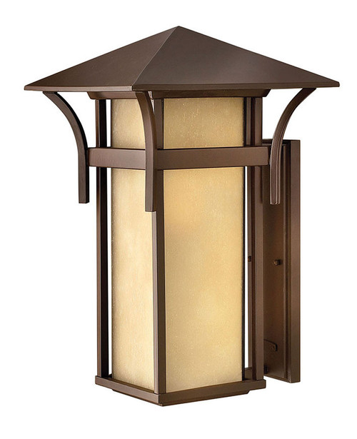 Hinkley Outdoor Harbor Collection Extra Large Wall Mount Lantern in Anchor Bronze, 2579AR