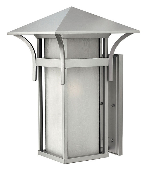 Hinkley Outdoor Harbor Collection Extra Large Wall Mount Lantern in Titanium, 2579TT