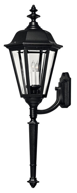 Hinkley Outdoor Manor House Collection Extra Large Wall Mount Lantern in Black, 1470BK