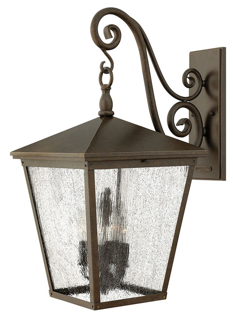 Hinkley Outdoor Trellis Collection Extra Large Wall Mount Lantern in Regency Bronze, 1438RB-LL